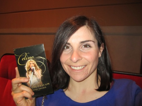 You know, sometimes, you just have to take a selfie with your Celine Dion ticket. #sorryimnotsorry